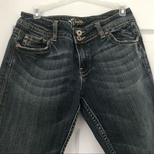 Miss Me jeans double button front flair bottom 31